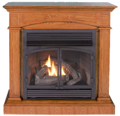 FREE STANDING FIREPLACES WITH MANTLE